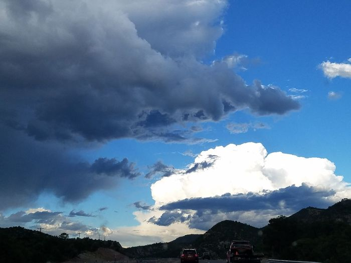 highway two tone clouds Cloud - Sky Mountain Dramatic Sky Nature Social Issues Power In Nature No People Mobility In Mega Cities EyeEmNewHere