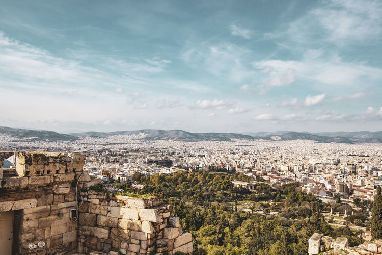 Akropolis Athens Athens, Greece Greece Akropolis Architecture Building Exterior Built Structure City Sky Cityscape Cloud - Sky Residential District Crowd Building Crowded Nature High Angle View Day Outdoors Community Town TOWNSCAPE House Settlement Acropolis