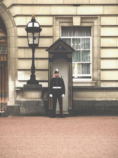 Adult Architecture Buckingham Palace Built Structure City Gate Day Full Length London London United Kingdom Outdoors Travel Destinations Uk
