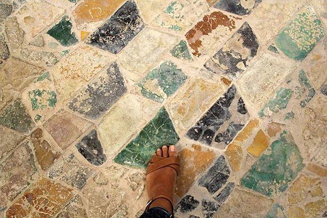 Pavimento Antico Sicilia Marsala Piede Viaggio