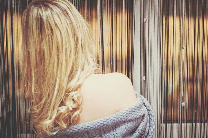 Girl Blond Hair Longhair Beauty