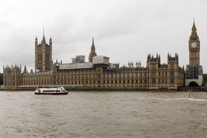 EyeEm Selects Clock Tower Travel Destinations Government Architecture Politics And Government River Nautical Vessel Cityscape Outdoors No People Urban Skyline Day Water City Sky Clock England London Travel City Building Exterior History Architecture House Of Parliament