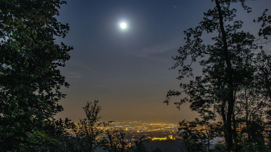 Croatia ♡ Croatia ❤ Canonphotography Canon 1300d Croatiafulloflife Croatia Zagreb Astronomy Tree Star - Space Moon Moonlight Illuminated Space Full Moon Sky