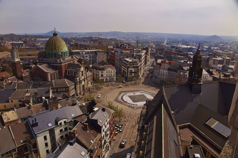 Overview on Charleroi, Belgium. Belgique Belgium Belgium♡ Charleroi Charleroi, Belgium City Life City Skyline Architecture Belgie Building Exterior Built Structure City City Overlook City Overview City View  City Views Cityscape Cityscapes Day Dome High Angle View No People Overview Overviews Roof