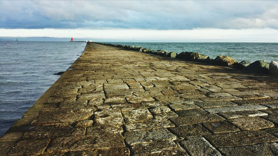 The South Wall Harbour Stone Wall Dublin Bay Lighthouse