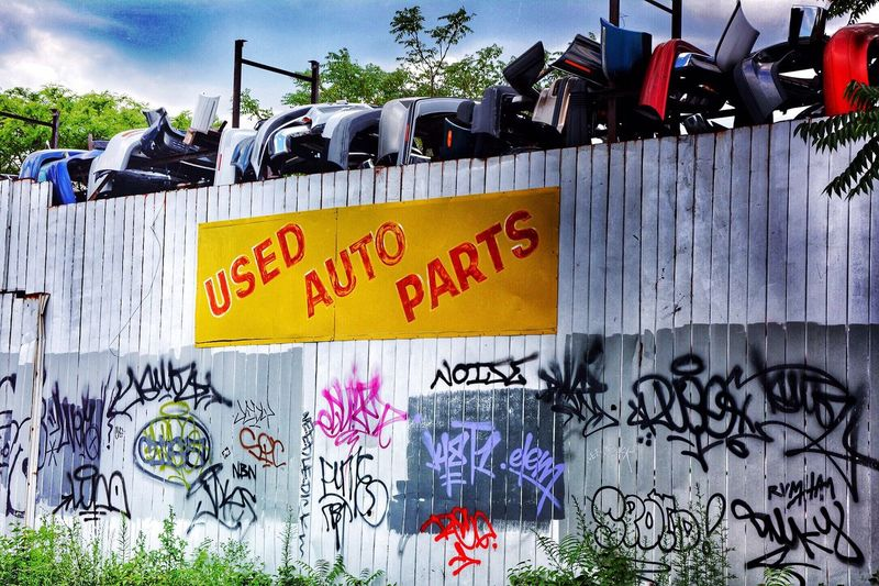 Urbex SignSignEverywhereASign Sign Auto Parts HDR