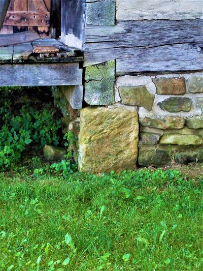 Cabin Foundation Architecture Foundation Grass History Through The Lens  Plants Plants 🌱 Porch Wood Cabin Cabin Life Chinking Grassy History Log Logs Porch Life Sandstone Sandstone Rocks Sandstone Wall Stone Stone Material Stone Wall Stones Wood - Material Wooden