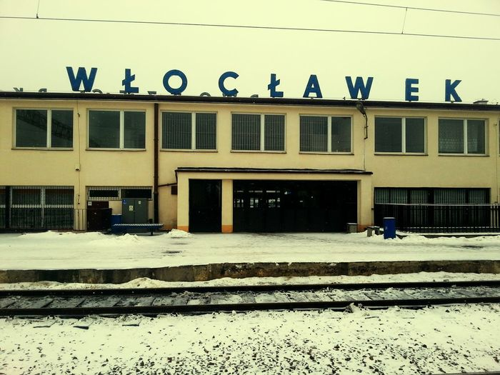 Train Station Urban Building Sky Eye4photography  Traveling Dark Place City Town Builts Yellow Blue Grey Winter Snow