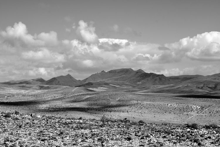 Scenic view of desert against sky