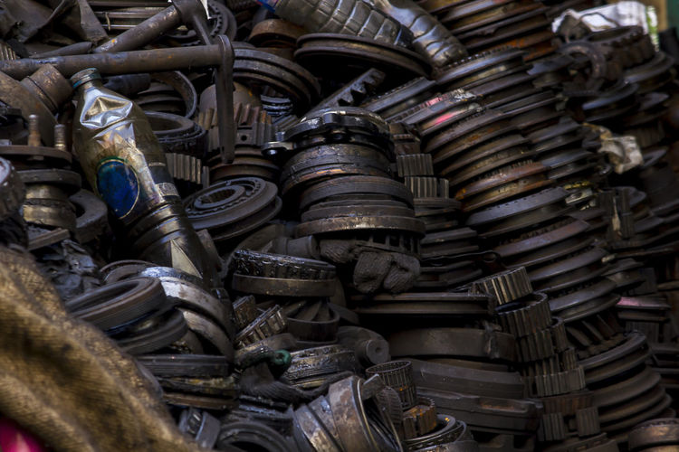 Old engine rusted on the floor Abandoned Abundance Backgrounds Day Decline Deterioration Full Frame Heap Indoors  Industrial Equipment Industry Junkyard Large Group Of Objects Machinery Metal No People Obsolete Old Old Engine Old Engineering Run-down Stack Still Life Wheel