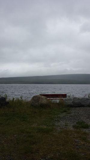 Storsjökapell Lake Rain Day Härjedalen