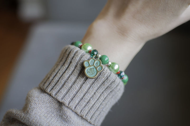 Close-up of hand with bracelet