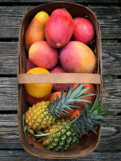 Florida fruit basket Fruit Basket Florida Fruit Ripe Fruit Mangoes Pineapples Wood Basket Woven Baskets Fruit Still Life