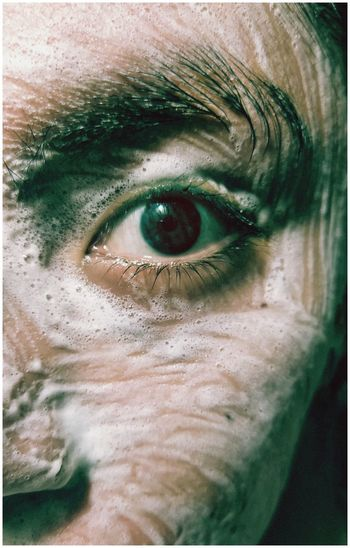 Close-up portrait of man eye