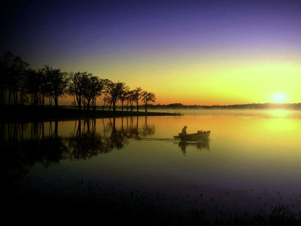 Beauty In Nature Clear Sky Lake Nature No People Outdoors Reflection Scenics Silhouette Sky Sunset Tranquil Scene Tranquility Tree Water