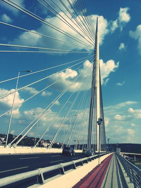 Most Na Adi Bridge Sky_collection PerspectiveBelgrade,Serbia
