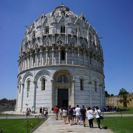 Piazza dei Miracoli Architecture Baptistery Building Exterior Built Structure Byzantine Influenze Catholic Church Duomo Di Pisa Marble Façade Medival Art Outdoors Pisa Baptistry Romanesque Style Toscana Toscany Tourism Travel Destinations