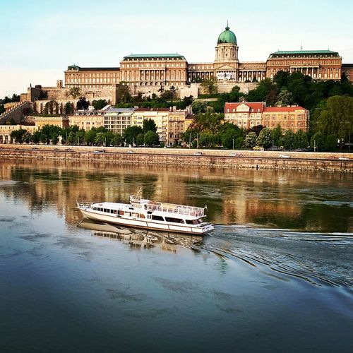 #budacastle #budapest #capital #Dark #europe #hungary #Instagram Architecture Building Exterior Built Structure City Cityscape Day Lake Nautical Vessel No People Outdoors Reflection Sky Travel Travel Destinations Water