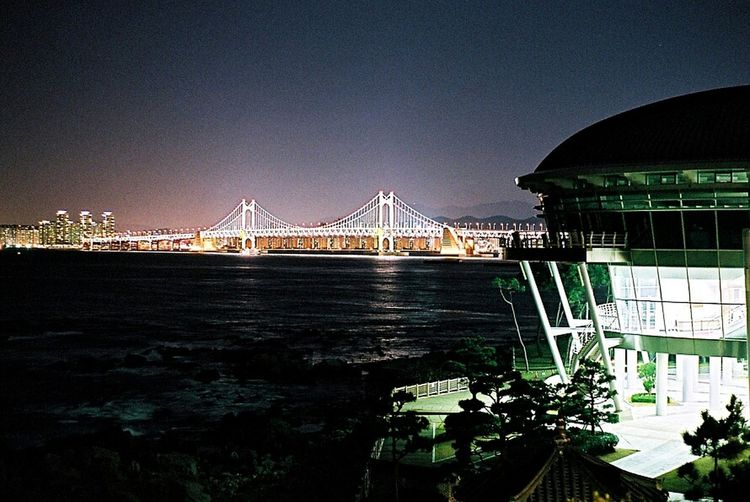 Night View Gwangan Bridge Nurimaru Sea