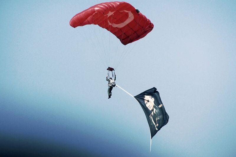 EyeEm Best Shots Sky Collection Turkishflag Turkish Hero Ataturk Is My Hero Parasailing