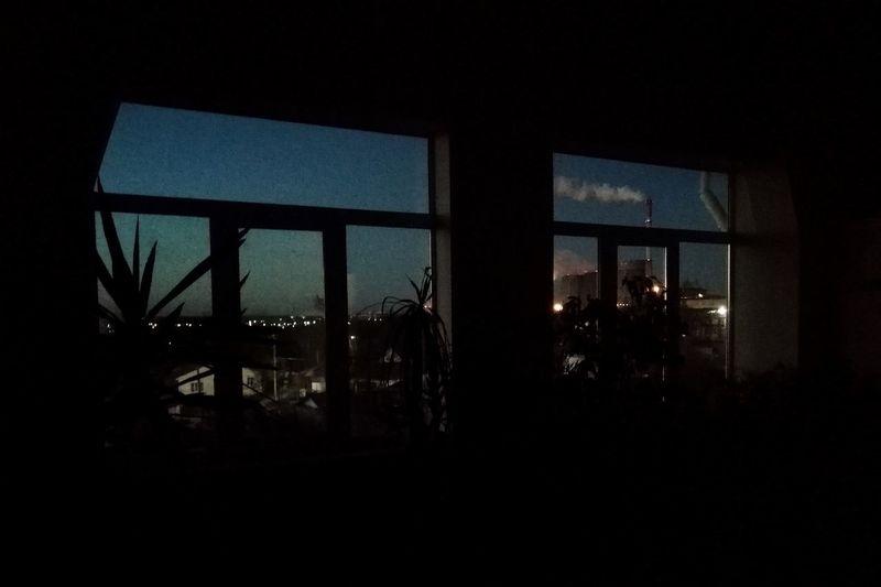 Astronomy Tree Window Sky Architecture Camera Film Settlement Office Building Negative Urban Scene Instant Print Transfer Instant Camera