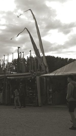 Cloudy day at Tollwood Festival in Munich