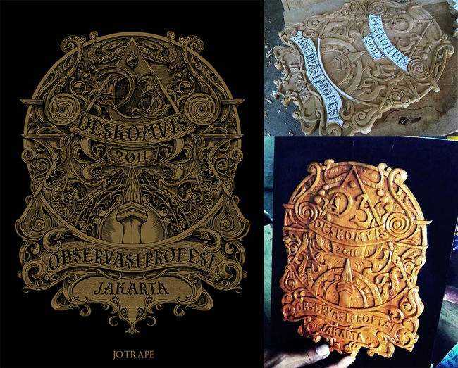 original by me and carving by odhie goodboy.. thanks. so amazing colaps! Art Wood Carving Commision!!!