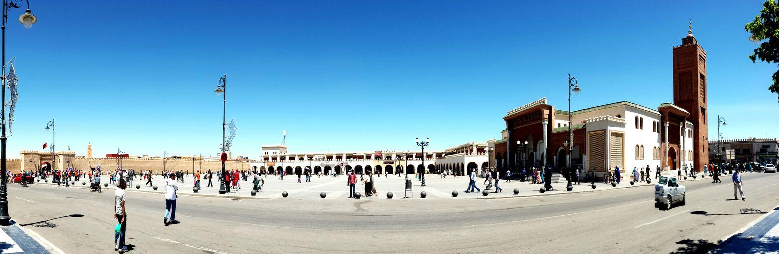 Oujda City, Morocco Medina Medina Oujda Old City Market Panoramic Sunday Sunny Day