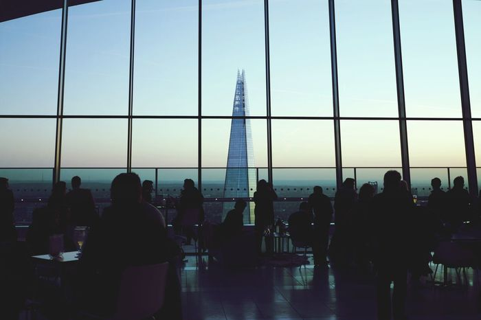 The view of The Shard from the rooftop cafe at 20 Fenchurch Street, London. Cityscapes London The Shard Sky Garden Sunset Evening Architecture Wallpaper Seeing The Sights The Architect - 2016 EyeEm Awards London Lifestyle Welcome To Black Neighborhood Map Postcode Postcards