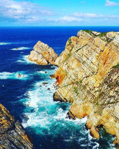Cabo Peñas (Asturias,Spain) Water Sea Beach Rock - Object Blue Sky Horizon Over Water Cloud - Sky Landscape