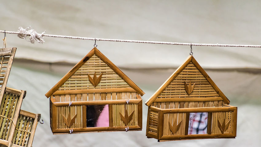 Sweet Home Home Mirror Shopping Architecture Decorative Handmade Sweet Home Toy Tree House Wooden