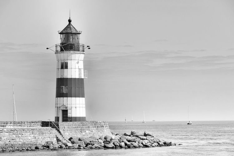 Lighthouse By Baltic Sea