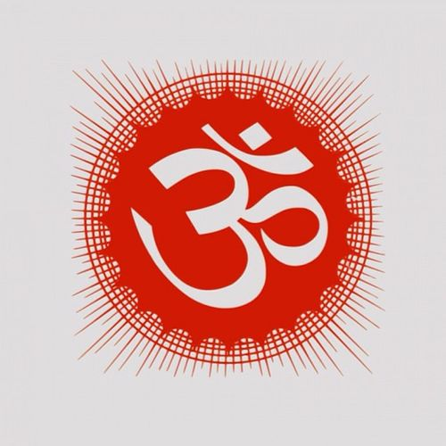 OM or Aum In Hinduism and other Indian religions, a sacred syllable considered the greatest of all mantras. The syllable OM is composed of the three sounds a-u-m (in the Sanskrit language, the vowels a and u join to become o), which represent three important triads: earth, atmosphere, and heaven; the major Hindu gods, Brahma, Vishnu, and Shiva; and the sacred Vedic scriptures, Rig, Yajur, and Sama (see Vedic religion). Thus om mystically embodies the essence of the universe. It is uttered at the beginning and end of Hindu prayers, chants, and meditation and is also freely used in Buddhist and Jain rituals.
