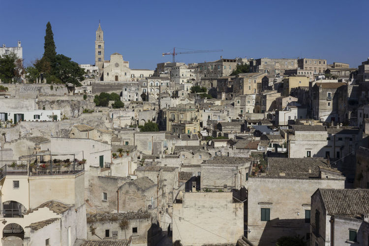 Matera Italy Unesco UNESCO World Heritage Site Architecture Built Structure Building Exterior City Sky Building Residential District Nature Town History The Past Travel Destinations Day No People Clear Sky Outdoors Travel Sunlight Place Of Worship Cityscape TOWNSCAPE Ancient Civilization