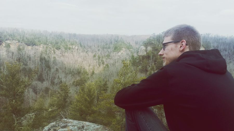 Danny Bear. Redrivergorge Thoughtful Hooded Shirt Countryside Calm Hiker Introspection Tranquility Foggy Hood - Clothing Wearing Tranquil Scene Growing
