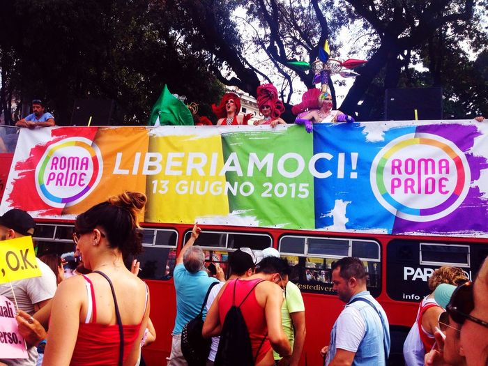 This year too I'm here. Gay Pride in Rome. Hanging Out Taking Photos Hello World Enjoying Life Check This Out Gay Colors Happy Hi! Landscape