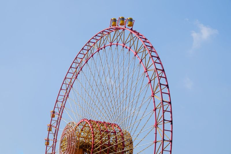 Fujifilm_xseries Fukuoka EyeEm Selects Amusement Park Low Angle View Arts Culture And Entertainment Amusement Park Ride Ferris Wheel Clear Sky