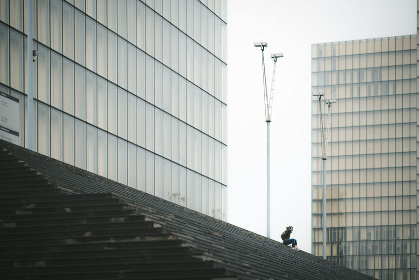 Alone Architecture Building Exterior Built Structure City Men One Person Outdoors