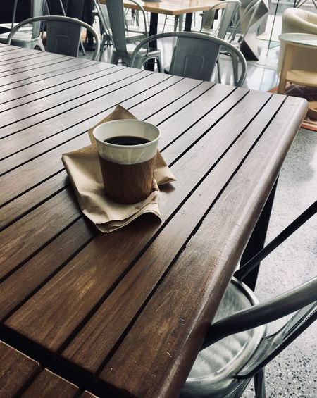 Solo cup 2; Cup Drink Food And Drink Mug Table Coffee Coffee Cup Coffee - Drink Still Life Day High Angle View Chair Seat Close-up No People Absence Freshness Refreshment Wood - Material Sunlight Small Business Heroes