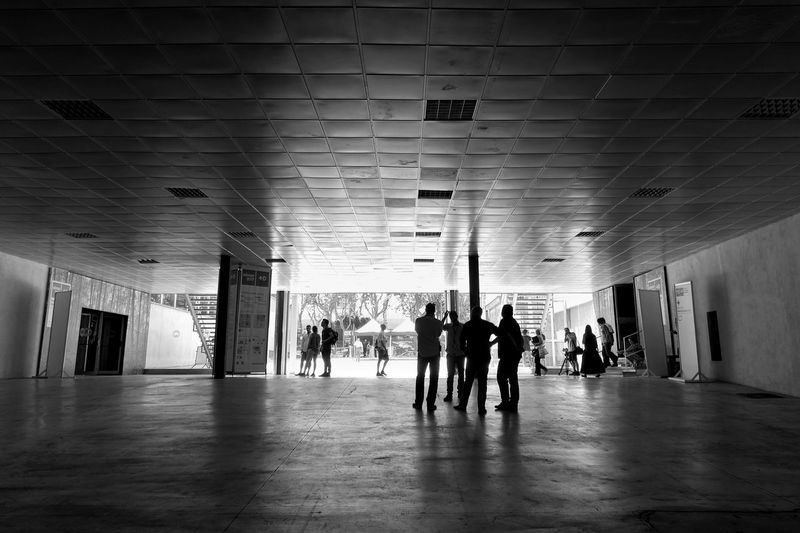 People in corridor