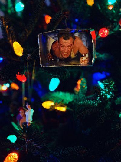 Diehard is a Christmas movie. christmas tree Tree Illuminated Christmas Holiday One Person Decoration