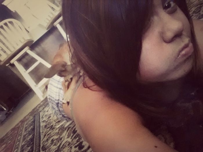 so she decided to lay on my back x)