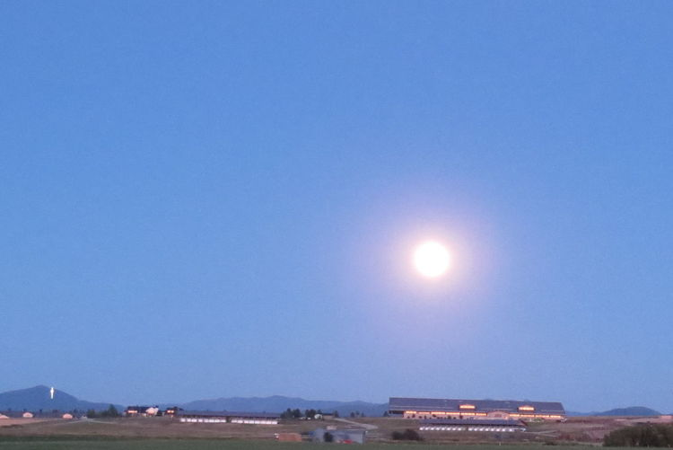 Moonglow Blue Clear Sky Moon Moon Lights Up The Night No People Non-urban Scene Outdoors Tranquil Scene