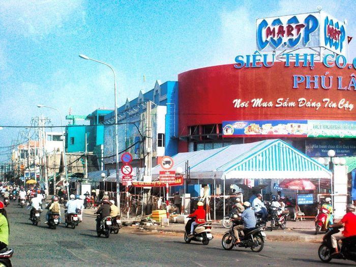 Saigon Vietnam Vietnamese Street Mopeds City Life Busy Street Ho Chi Minh City