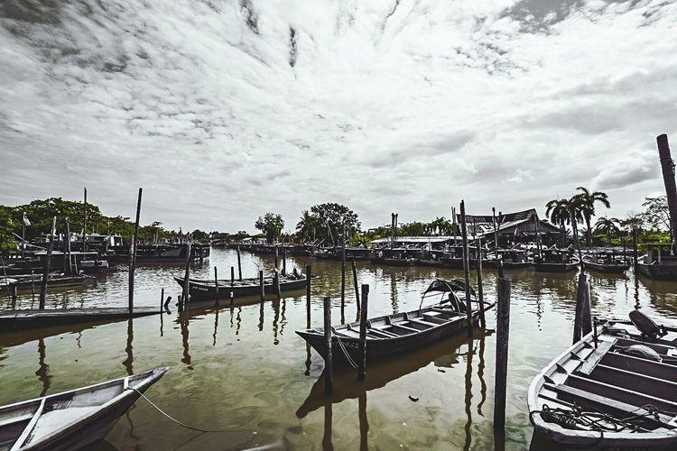 Cloud - Sky Transportation Nature Fishvillage Fishing Boat Beauty In Nature Muar Nikond7200