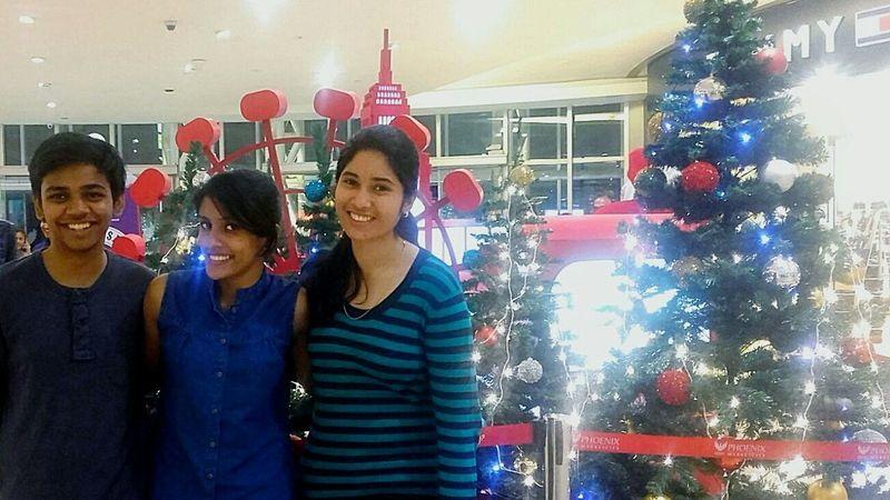 Christmas Around The World having fun with friends