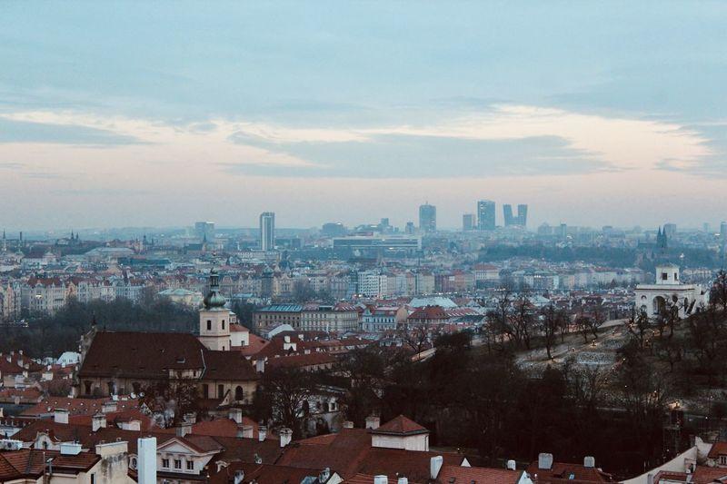 View from castle to pankrác