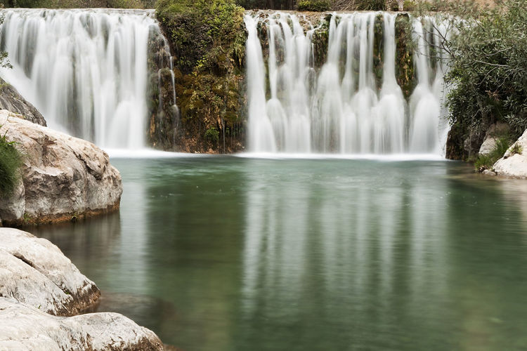 Sources of the Algar River in Callosa d'En Sarriá, province of Alicante, Spain Algarve Alicante SPAIN Beauty In Nature Blurred Motion Comunidad Valenciana Day Flowing Water Long Exposure Motion Nature No People Outdoors River River Algar Rock - Object Scenics Tree Water Waterfall