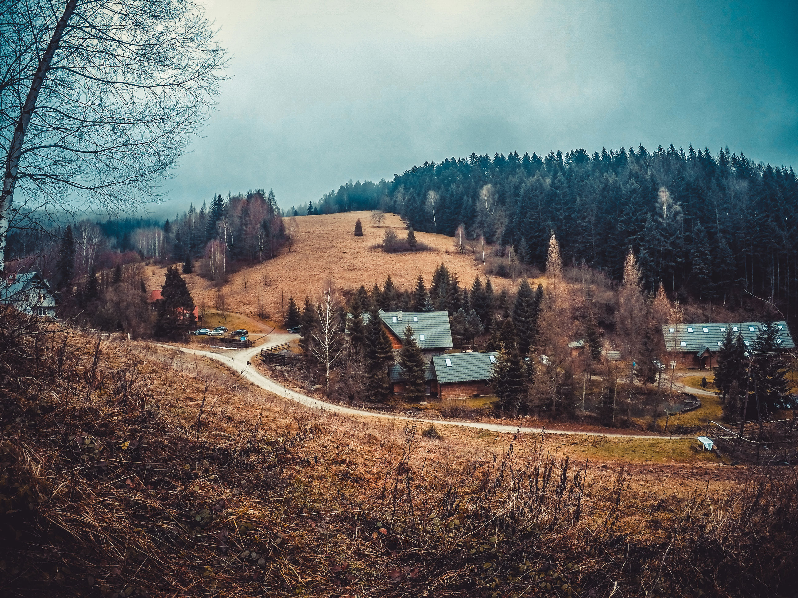 tranquil scene, tree, landscape, scenics, tranquility, sky, architecture, beauty in nature, panoramic, nature, non-urban scene, mountain, outdoors, day, countryside, mountain range, cloud - sky, no people, remote