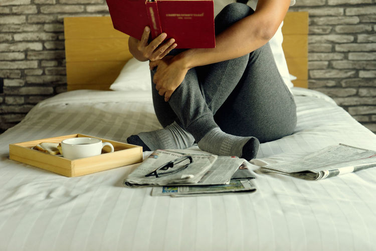 Woman Bed Book